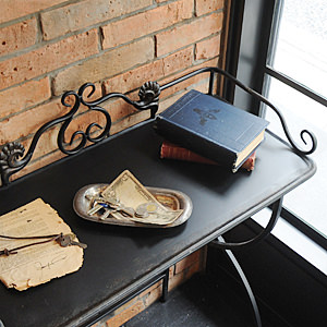 Vintage Black Side Table