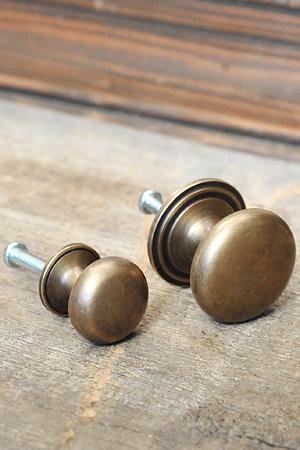 Antique Brass Pull Round 1