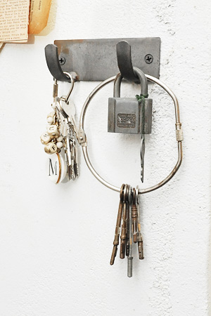 RUSTIC Iron Plate Double Hook 1