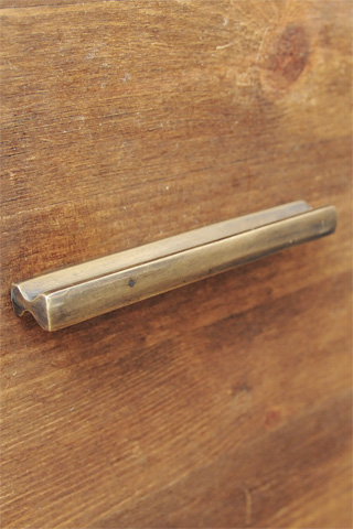Antique Brass Pull RECT 3