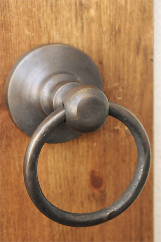 Antique Brass Door Handle Ring