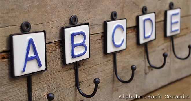 アルファベットフック セラミック