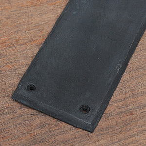 SOLID BRASS Push Plate Black