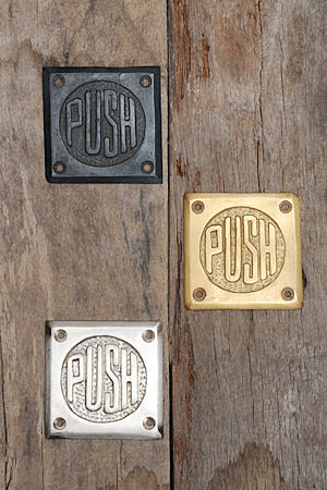 SOLID BRASS Square Sign