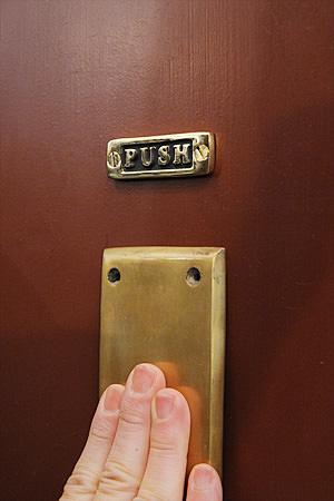 Brass Sign Mini Push & Pull 1