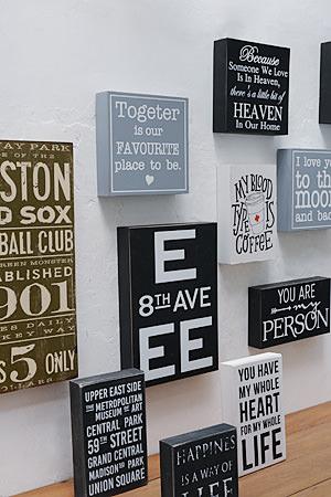 Wood Mini Signboard Type N
