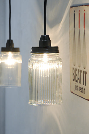 Glass jar Lamp A