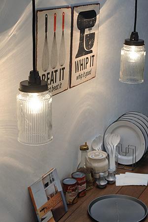 Glass jar Lamp A
