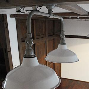 Tin Shade Lamp 2 White