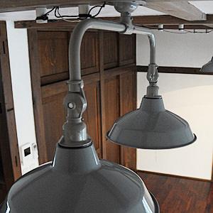 Tin Shade Lamp 2 Gray