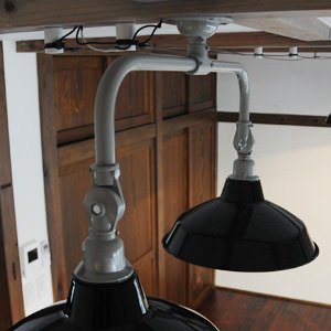 Tin Shade Lamp 2 Black