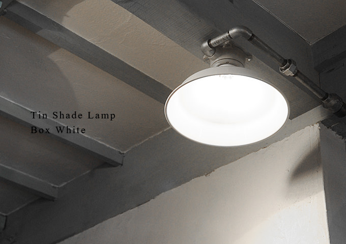 ティンシェード ランプ ボックス ホワイト