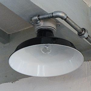 Tin Shade Lamp Box Black