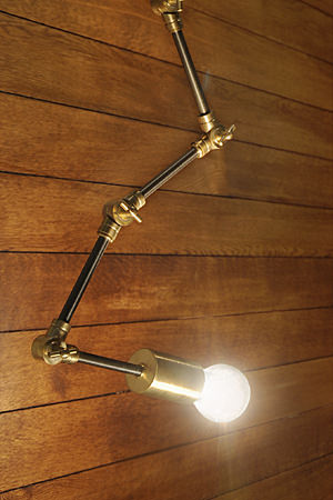 Brass Ceiling Light ZIGZAG