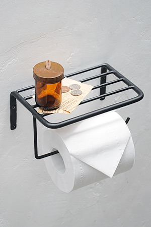 Plain Iron Toilet Paper Holder Top board