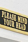 ブラスサイン 頭上注意 タイプ2