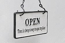 リバーシブルサインオープンクローズ B&W