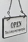 リバーシブルサイン オープンクローズ B&W