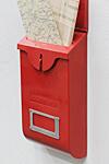 メールボックス スリム レッド